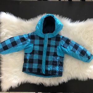 Columbia Hooded Fleece Jacket 2T Plaid Blue